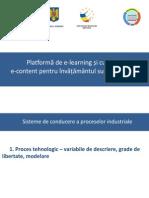 01_(C1) Proces tehnologic – variabile de descriere, grade de libertate, modelare