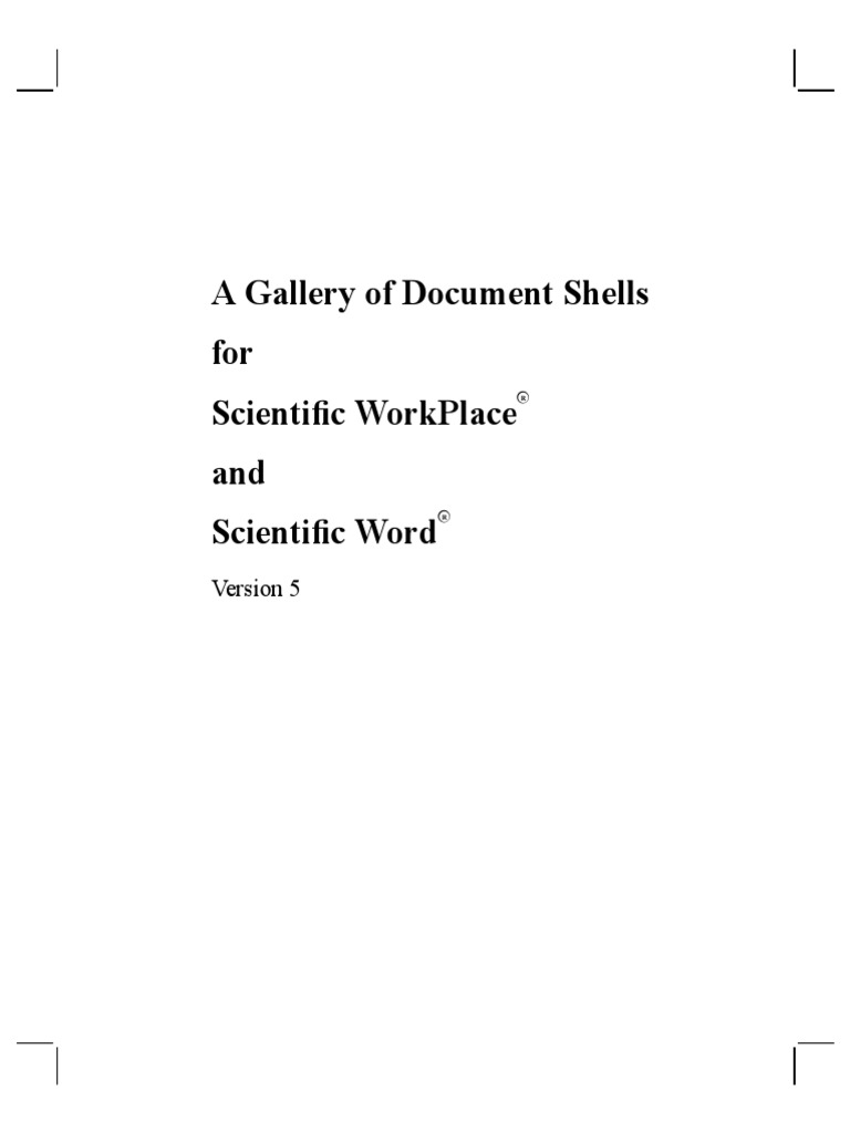 Mac Kichan - A Gallery of Document Shells for Scientific WorkPlace ...