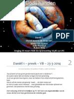In Gods handen -Daniël 1 – preek  23-3-2014
