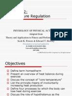 Lecture 2 (Temperature Regulation)
