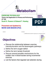 Lecture 5 (Exercise Metabolism)