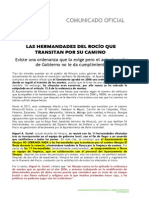 COMUNICADO OFICIAL CAMINO DEL ROCÍO.doc