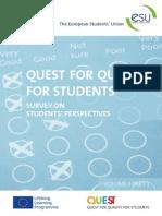 QUEST Survey analysis Sept2013