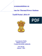 Recommendations on Operation Norms for Thermal Power Stations Tariff Period -2014-19
