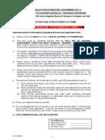 Application Structured CV Form Tc