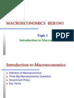 Intro to Macroeconomic