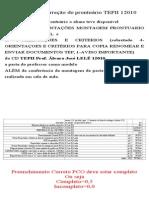 Criterios correção prontuário TEPII 12010