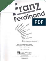 Book - Guitar - Franz Ferdinand