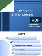 Public Sector Disinvestment