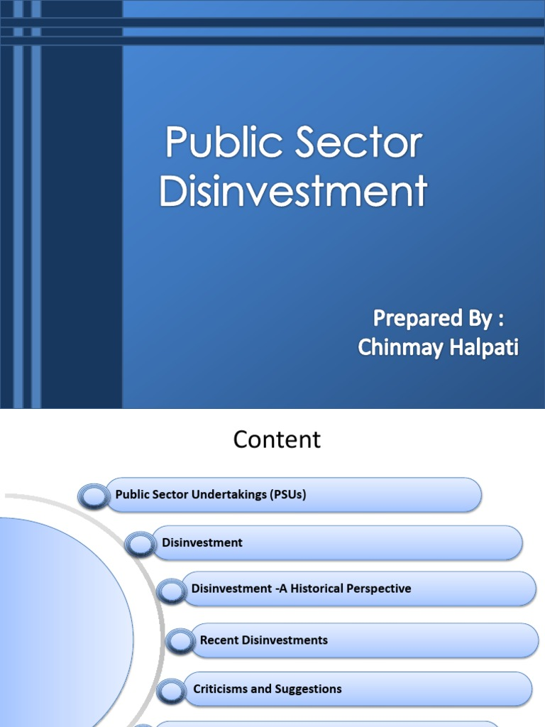 Disinvestment in public sector pptx dws investments logo