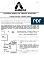 Armstrong Installation, Start-up and Operating Instructions Armstrong Differential Condensate Controller