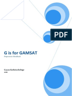 G is for GAMSAT- Preparation Handbook