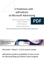 AdPredictor - Large Scale Bayesian Click-Through Rate Prediction in Microsoft's Bing Search Engine