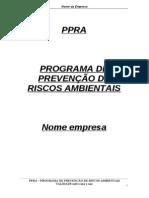 Modelo PPRA - Em Branco