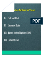 Construction Methods for Tunnel