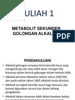 Kuliah 1 Alkaloid