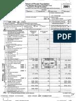 JEHT Foundation -- 2001 Tax Return
