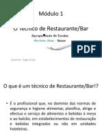 Modulo 1 o Tcnico de Restaurante-bar