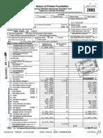 JEHT Foundation -- 2003 Tax Return