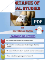 Importance of Animal Studies