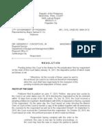 Spl. Civil. 0064- Resolution