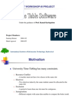 Timetable Ppt