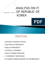 Pestal Analysis on It Sector of Republic Of