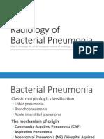 Radiology of bacterial pneumonia