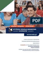 Informator 2014 - Studia I stopnia - Wyższa Szkoła Bankowa w Poznaniu Wydział Zamiejscowy w Chorzowie