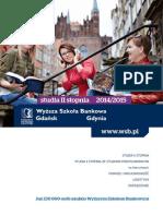 Informator 2014 - Studia II stopnia - Wyższa Szkoła Bankowa w Gdańsku oraz Gdyni