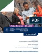 Informator 2014 - Studia II stopnia - Wyższa Szkoła Bankowa w Toruniu oraz Bydgoszczy