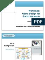 Social Games Design Workshop