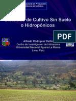 Sistemas de cultivo sin suelo o hidropónicos
