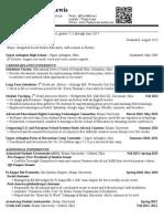 taylor lewis educational resume