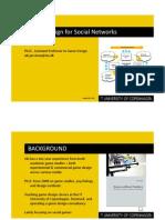 Game Design for Social Networks