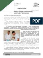 23/03/14 PACIENTES CON DIABETES MÁS PROPENSOS A PADECER TUBERCULOSIS