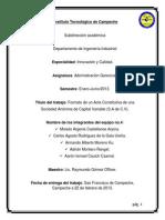 Formato de Un Acta Constitutiva.