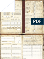 Pathfinder - Characte Sheet Editable