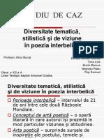 Diversitate Tematica Stilistica Si de Viziune in Poezia Interbelica 1
