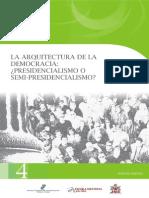 1. La Arquitectura de La Democracia Presidencialismo o Semi Presidencialismo - Garrido