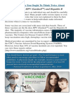 Three Vaccines To Think Twice About