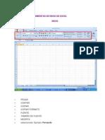 Barras de Herramientas de Inicio de Excel