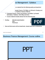 BFM 1 Business Finance Management Introduction