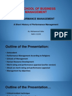 A Short History of Performance Management V1