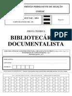 BIBLIOTECÁRIO-DOCUMENTALISTA-PROVA-E-GABARITO 2014
