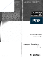 Le Partage Du Sensible Jacques Ranciere