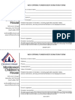 local business donation form