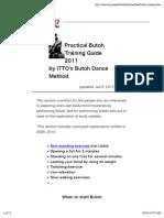 Itto Morita - Practical Butoh Training Guide 2011