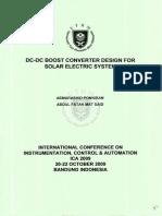 Dc-dc Boost Converter Design Asmarashid Ponniran 2009
