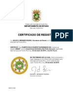 certificado de registro dpto estado